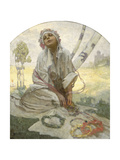Bohemian Sun Dreamer Giclee Print by Alphonse Mucha