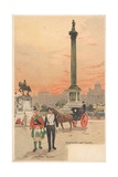 Trafalgar Square, London, Highlander and Lancer Giclee Print