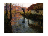 The Mill Stream Giclee Print by Fritz Thaulow