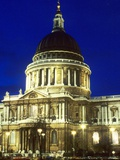 St. Paul's Cathedral at Night Photographic Print