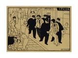 To the Nick, 1893 Giclee Print by Felix Edouard Vallotton