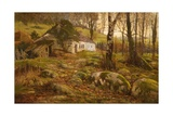 A Welsh Cottage, 1884 Giclee Print by Buckley Ousey