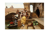 Young Venetian Vendors Giclee Print by Antonio Paoletti