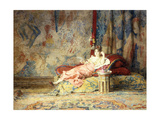Harem Beauty, 1876 Giclee Print by Alexandre-Louis Leloir