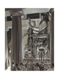 Statue of Zeus at Olympia Giclee Print by Peter Jackson