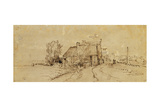 An Inn by a Roadside Giclee Print by  Rembrandt van Rijn