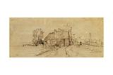 An Inn by a Roadside Giclee Print by  Rembrandt van Rjin