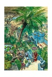 Hanging Gardens Babylon Giclee Print by Peter Jackson