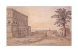 The Palazzo Farnese at Caprarola Giclée-Druck von Gaspar van Wittel