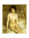 A Seated Nude Giclee Print by Ernest-Joseph Laurent
