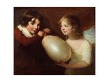 Two Children with a Pig's Bladder Giclee Print by William Tate