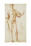 A Standing Youth, and Studies of a Woman, Her Left Arm Outstretched Giclee Print by Baccio Bandinelli