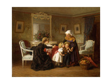 The Kiss Giclee Print by Theophile Emmanuel Duverger