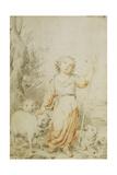 The Good Shepherd Giclee Print by Bartolome Esteban Murillo