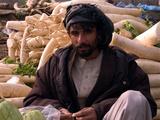 Market Trader Selling Parsnips, Kabul Photographic Print