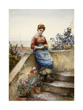 Peeling an Apple, 1884 Giclee Print by Daniel Ridgway Knight