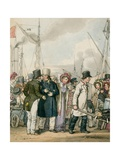 Arriving at Margate Giclee Print by John Augustus Atkinson