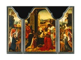 Triptych: Adoration of the Magi, with St. James Presenting the Donor and St. Catherine of… Giclee Print by  Master of the Holy Blood