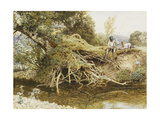 The Young Angler Giclee Print by Myles Birket Foster