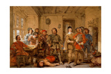 A Quarrel in the Guardroom, C.1831 Giclee Print by George Cattermole