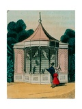 Aviary for Parrots and Cockatoos at the London Zoo. 1840s Giclee Print