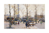 Place De La Bastille, Paris Giclee Print by Eugene Galien-Laloue