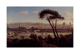 A View of Florence from the Bologna Road Giclee Print by Gaspar van Wittel
