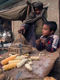 Roasted Corn on the Cob, Kabul Photographic Print