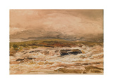 Waterfall, Sketch of a Scotch River in Spate Giclee Print by Thomas Collier