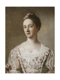 Portrait of a Lady, Half Length, in a Pink and White Dress Giclee Print by Jean-Etienne Liotard