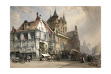 The Market Place, Malines, C.1884 Giclee Print by William Callow