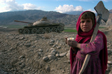 Girl with Tank, Afghanistan Photographic Print