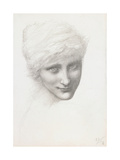 Head Study for Mermaid in 'The Depths of the Sea', 1886 Giclee Print by Sir Edward Coley Burne-Jones
