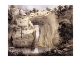 Natural Bridge, Rockbridge County, from 'Album of Virginia', 1858 Giclee Print by Edward Beyer