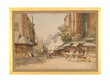 The Market Square, Frankfurt, C.1860 Giclee Print by William Callow