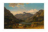 Llyn Nantlle, North Wales, C.1777 Giclee Print by George the Elder Barret