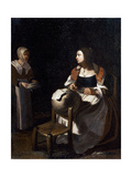 The Pillow-Lace Maker Giclee Print by Michael Sweerts