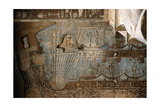 The Ceiling Inside the Hypostyle Hall of the Temple of Hathor Contains Vividly Painted Scenes and… Giclee Print