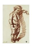 A Little Boy Standing Giclee Print by Jean-Baptiste Greuze