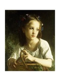 La Petite Ophelie, 1875 Reproduction procédé giclée par William-Adolphe Bouguereau