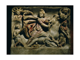 A Relief of Mithras Slaying the Bull, the First of Living Creatures from Whose Blood, Corn and… Giclee Print