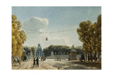 A View of the Tuileries from the Champs-Elysees Giclee Print by Jean Lubin Vauzelle