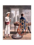 A Gentleman with His Hookah Burdah, or Pipe Bearer, 1813 Giclee Print by Charles D'oyly