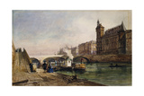 On the Seine, Paris Giclee Print by Georges Francois Guiaud