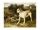 A Fox Terrier with the Day's Bag, 1888 Giclee Print by Walter Hunt