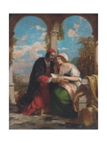 Abelard and Heloise on a Terrace Giclee Print by Sir Charles Lock Eastlake