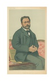 M Emile Zola, French Realism, 24 January 1880, Vanity Fair Cartoon Giclee Print by Theobald Chartran