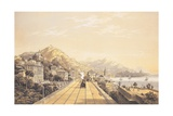 Frontispiece from 'Views on the Railway Between Turin and Genoa', 1853 Giclee Print by Carlo Bossoli