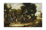 Mishap at the Crossroads, 1880 Giclee Print by Charles Hunt