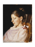 Portrait of Anna Ancher, the Artist's Wife Gicléetryck av Michael Peter Ancher